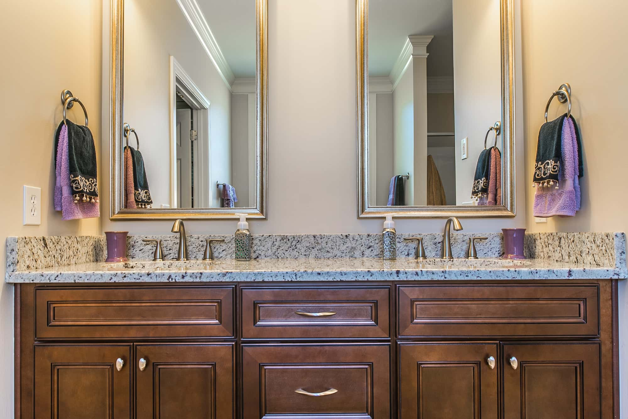 Bathroom vanities affordable luxury in Saddle Brown at North South Carolina