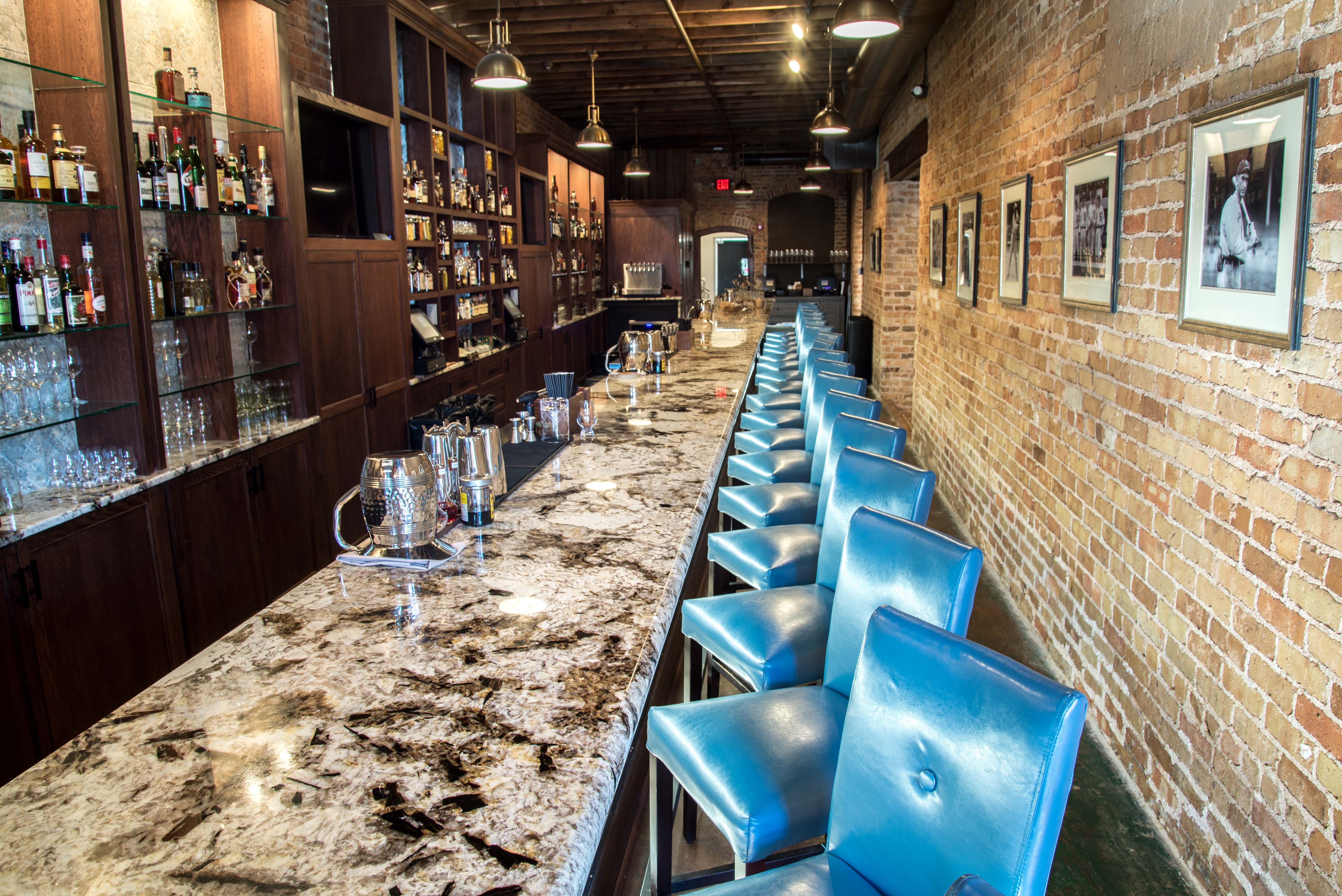 Granite Countertops Used On The Bar Top At Husk A Downtown Greenville, SC  Restaurant.